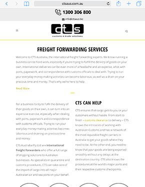 Customs and Trade Solutions iPad