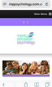 Manly Pittwater Psychology iPhone
