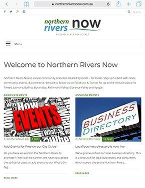 Northern Rivers Now iPad
